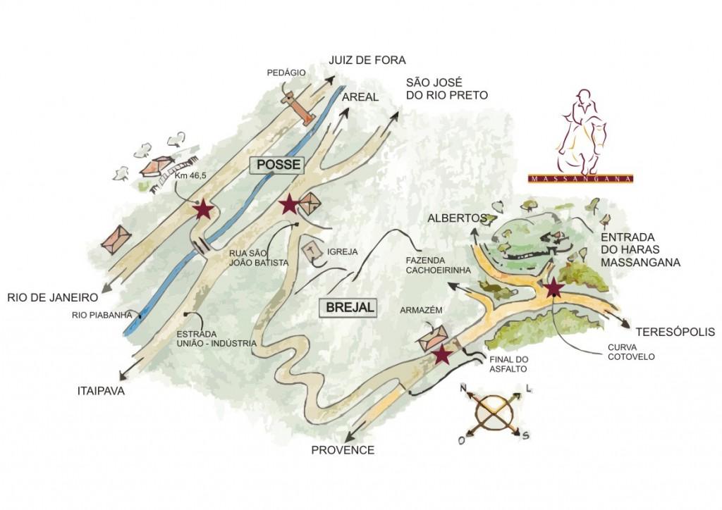 Como chegar Localização Haras Massangana